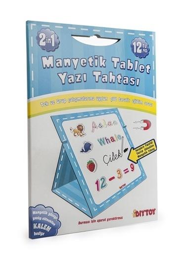 Bunjoy Diy-Toy Yayınları Manyetk Tablet Yazı Tahtası-Mavi 0585 Renkli